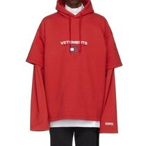 VETEMENTS Unisex Street Style Collaboration Long Sleeves Cotton