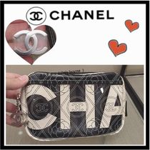 CHANEL ICON Flower Patterns Monogram Casual Style Unisex Canvas