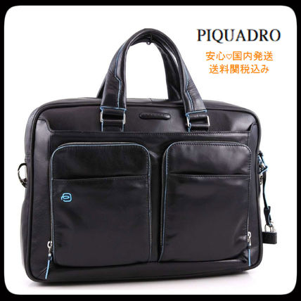 A4 2WAY Plain Leather Business & Briefcases