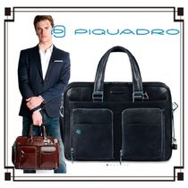 PIQUADRO A4 2WAY Plain Leather Business & Briefcases