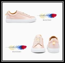 BUSCEMI Rubber Sole Casual Style Suede Blended Fabrics Plain