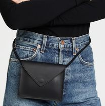 Elizabeth and James Plain Leather Shoulder Bags