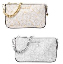 Michael Kors Flower Patterns 2WAY Chain Leather Elegant Style Clutches