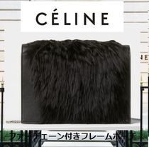 CELINE 2WAY Leather Party Style Shoulder Bags