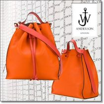 J W ANDERSON Casual Style 2WAY Plain Leather Shoulder Bags