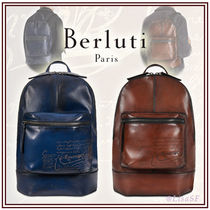 Berluti A4 Leather Backpacks