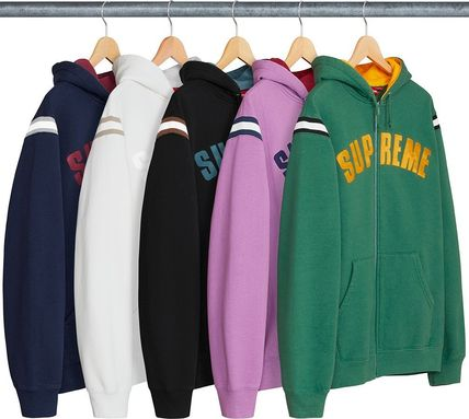 Supreme Hoodies Unisex Sweat Street Style Long Sleeves Plain Hoodies