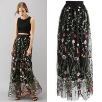 Chicwish Flower Patterns Maxi Long Home Party Ideas Lace