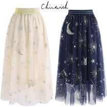 Chicwish Star Maxi Long Home Party Ideas Elegant Style Maxi Skirts