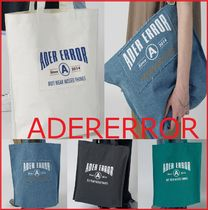 ADERERROR Casual Style Unisex A4 Totes