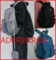 ADERERROR Unisex Street Style A4 Backpacks