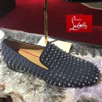 Christian Louboutin ROLLERBOY Plain Toe Loafers Studded Plain Loafers & Slip-ons