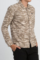 RVCA Camouflage Street Style Long Sleeves Cotton Shirts