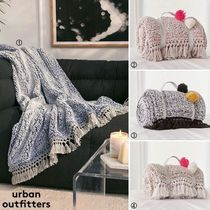 Urban Outfitters Unisex Plain Fringes Throws