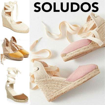 Round Toe Rubber Sole Heeled Sandals