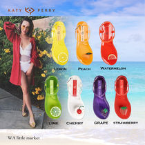 Katy Perry Tropical Patterns Open Toe Plain Flip Flops PVC Clothing