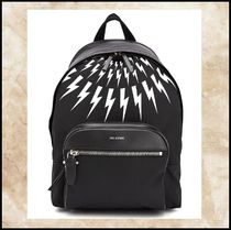 NeIL Barrett Leather Backpacks