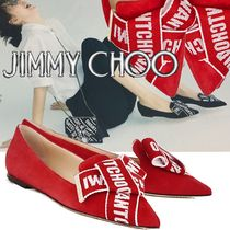 Jimmy Choo Casual Style Suede Pointed Toe Pumps & Mules