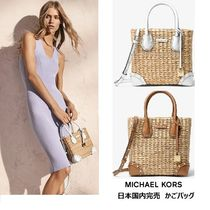 Michael Kors MALIBU Casual Style 2WAY Straw Bags