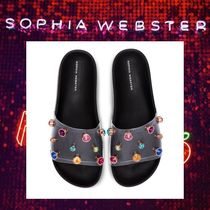 SOPHIA WEBSTER Rubber Sole Casual Style Footbed Sandals Slip-On Shoes