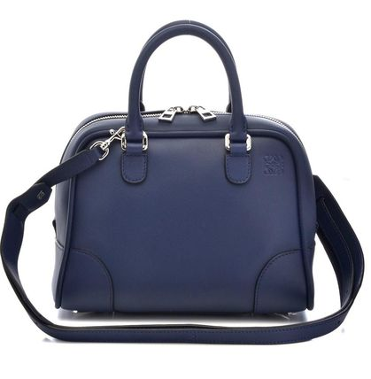 Casual Style Calfskin 2WAY Plain Handmade Handbags