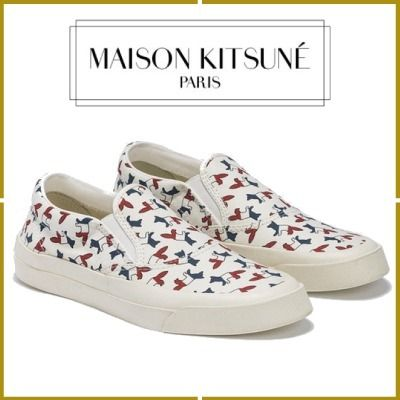 Casual Style Other Animal Patterns Slip-On Shoes