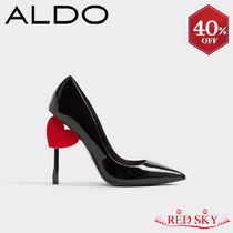ALDO Heart Casual Style Plain Pointed Toe Pumps & Mules