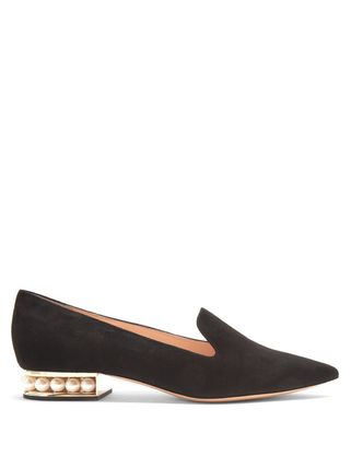 Suede Loafer Pumps & Mules