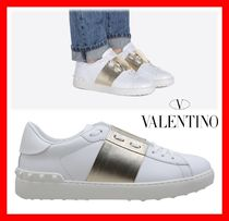 VALENTINO Unisex Street Style Leather Sneakers