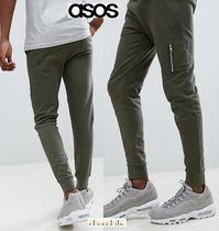 ASOS Sweat Street Style Plain Khaki Joggers & Sweatpants