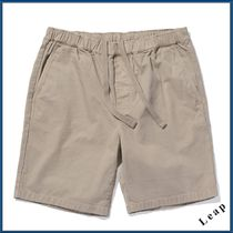 Outer known Plain Cotton Khaki Cargo Shorts