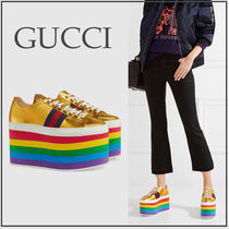 4050b764f37 GUCCI 2018-19AW Stripes Platform Casual Style Street Style Plain ...
