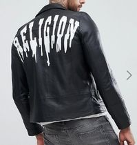 Religion Short Leather Biker Jackets
