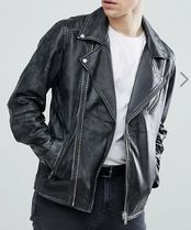 SELECTED Short Leather Biker Jackets