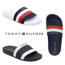 Tommy Hilfiger Plain Toe Unisex Shower Shoes Shower Sandals