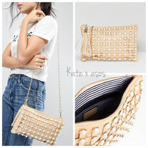 ASOS Stripes Tassel 2WAY Chain Plain Party Style Clutches