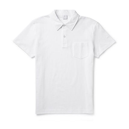Street Style Cotton Short Sleeves Polos