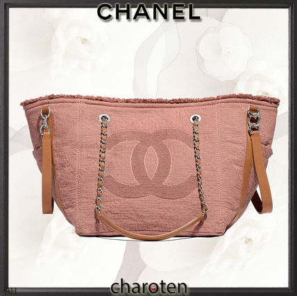 CHANEL Totes Canvas A4 3WAY Chain Plain Elegant Style Totes 2