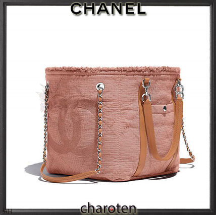 CHANEL Totes Canvas A4 3WAY Chain Plain Elegant Style Totes 3