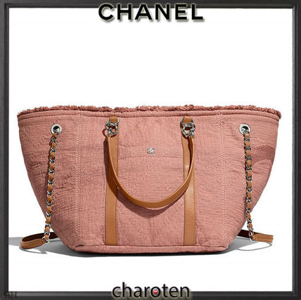 CHANEL Totes Canvas A4 3WAY Chain Plain Elegant Style Totes 4