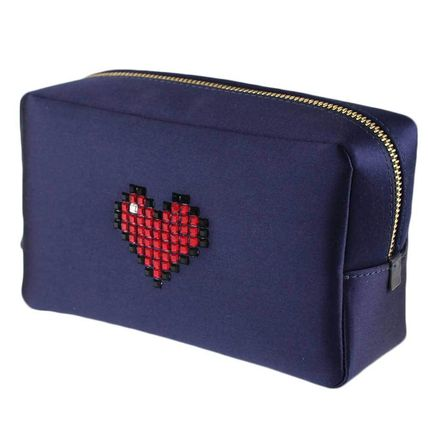 Nylon With Jewels Pouches & Cosmetic Bags