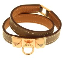 HERMES Casual Style Leather Bracelets