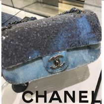 CHANEL Blended Fabrics 2WAY Chain Party Style Home Party Ideas