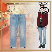 GUCCI Tapered Pants Stripes Denim Street Style Plain Jeans & Denim
