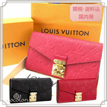 Louis Vuitton MONOGRAM EMPREINTE 18SS MONOGRAM EMPREINTE PORTEFEUILLE METIS / LONG WALLET