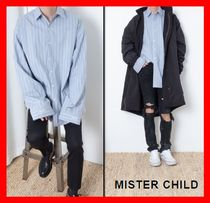 MISTER CHILD Stripes Street Style Cotton Shirts