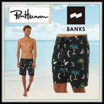 Ron Herman Tropical Patterns Blended Fabrics Street Style Oversized