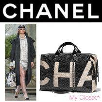 CHANEL ICON Flower Patterns Monogram Canvas Street Style A4 2WAY Chain