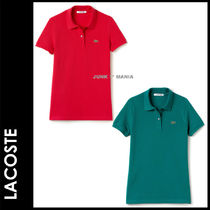 LACOSTE Casual Style Plain Cotton Short Sleeves Polo Shirts