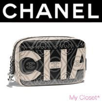 CHANEL ICON Flower Patterns Monogram Street Style PVC Clothing